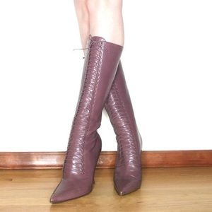 Jimmy choo mauve leather boots size 40